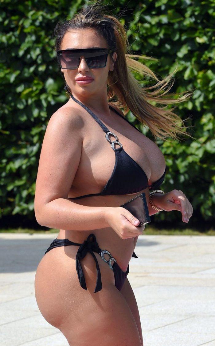LAUREN GOODGER in Bikini on Holiday in Spain