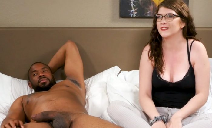 Young brunette Remy fucks with thick big black cock