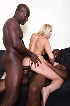 Great looking MILF Lilly Peterson gets big black cocks into ass and pussy